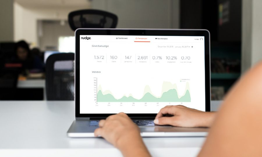 Client on the Nudge dashboard