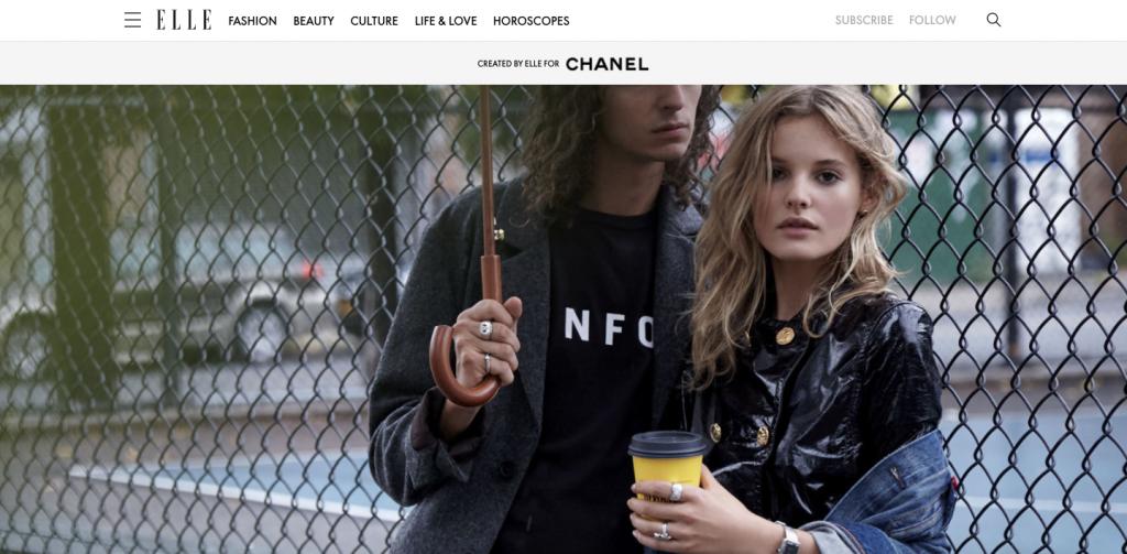 Luxury ads in native, Chanel: Girl meets boy: Modern Menswear-Inspired Dressing