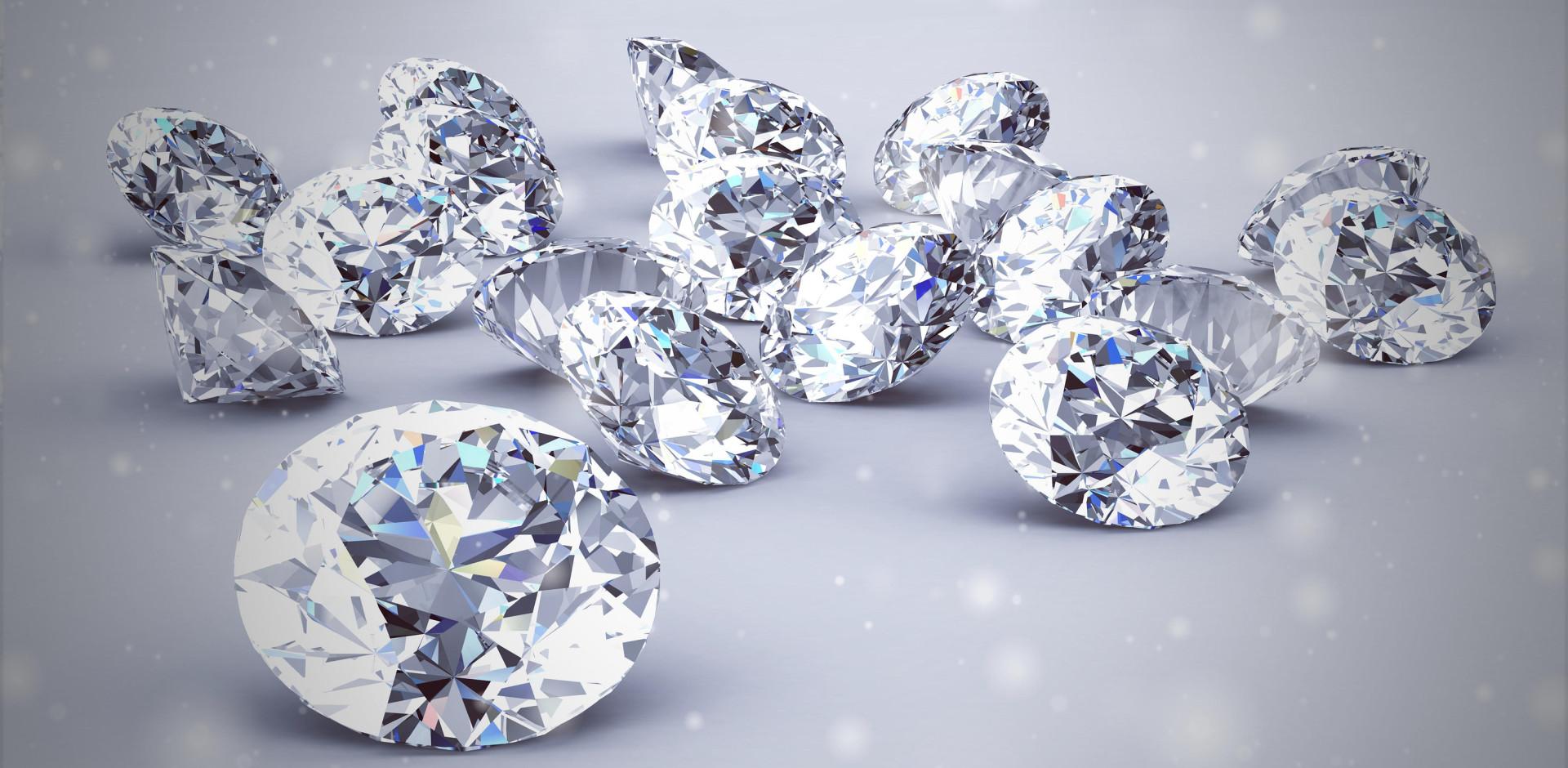Diamond jewels representing luxury brands in native advertising