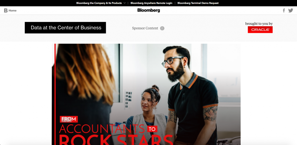B2B Ads in Native; Oracle: From Accountants To Rockstars