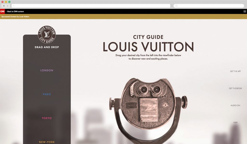 Louis Vuitton + CNN [Best Luxury] - Best Native Ads 2017