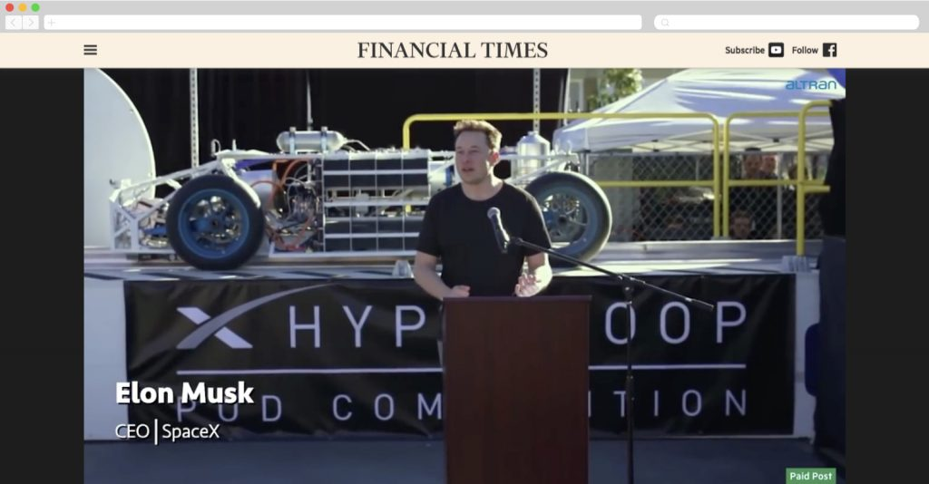Altran designs for Hyperloop
