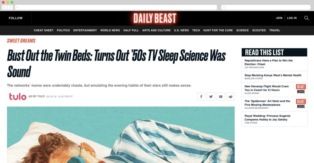 Tulo on the Daily Beast
