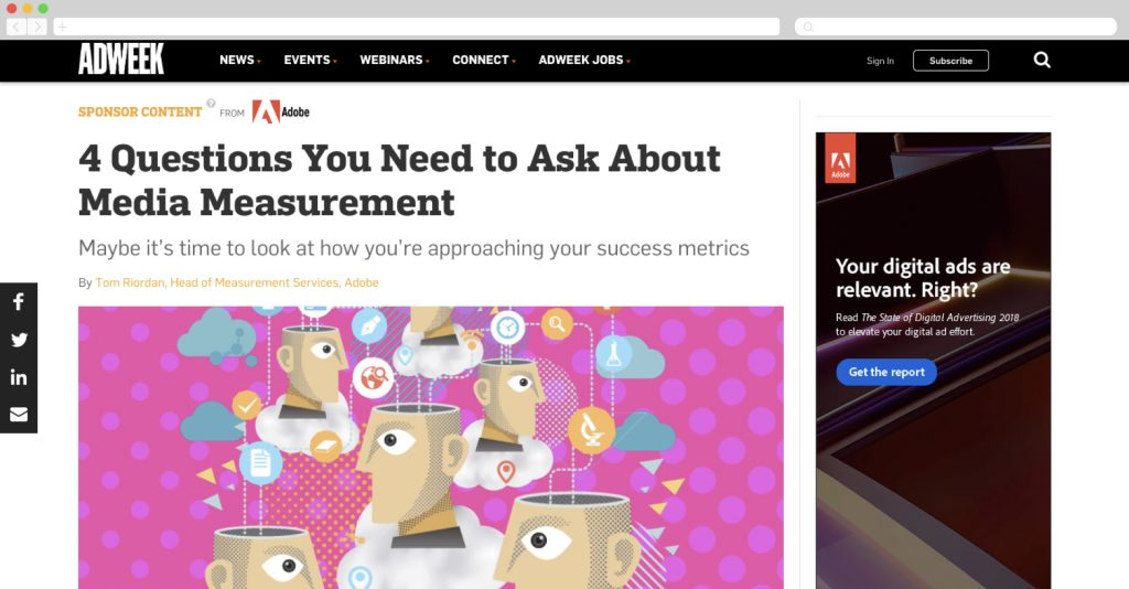 Adobe on adweek talking media measurement