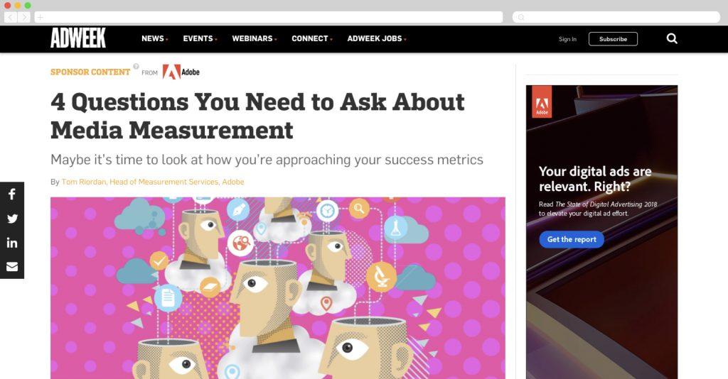 Adobe on adweek talking media measurement
