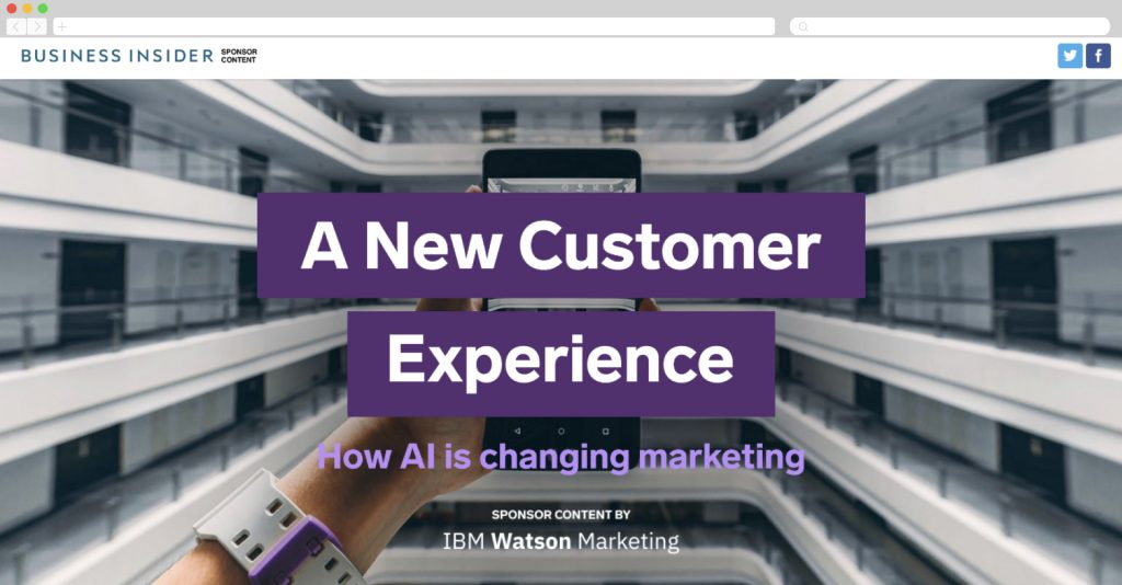 ibm watson marketing on artificial intelligence