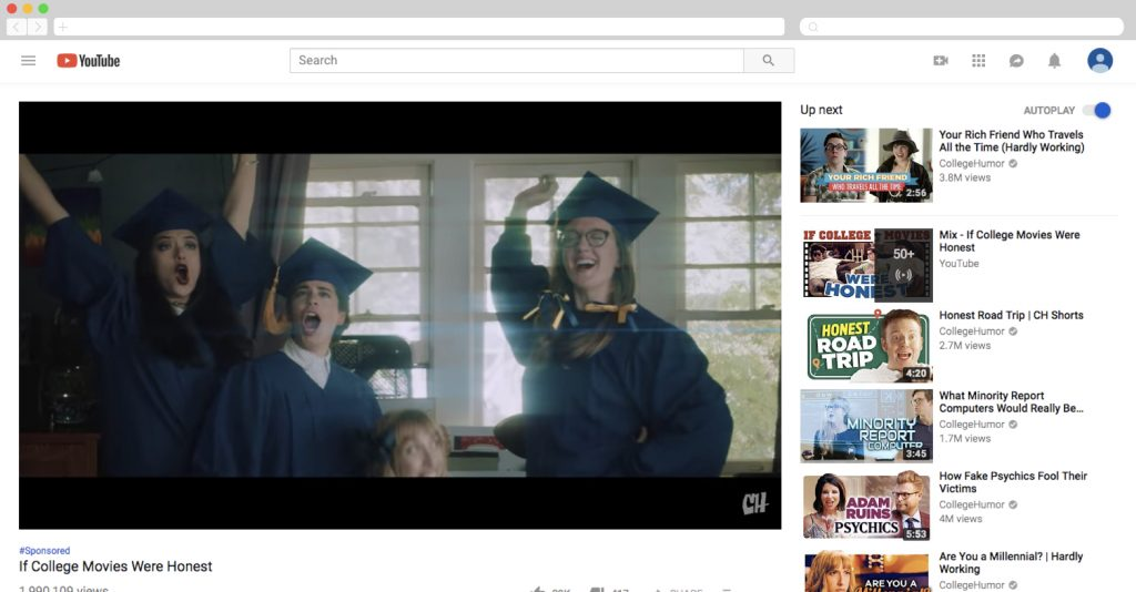 xfinity on college humor if college movies were honest