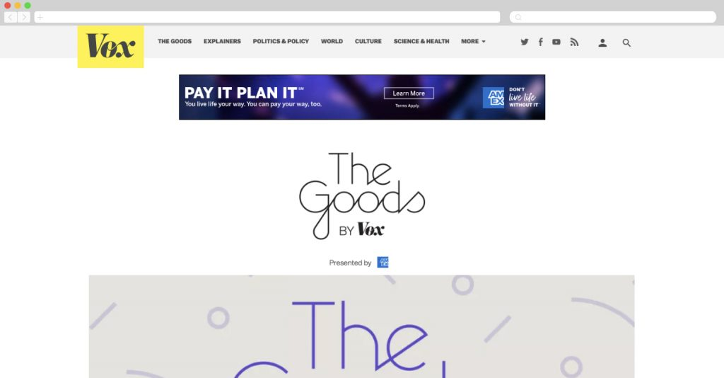 American Express on Vox: The Goods