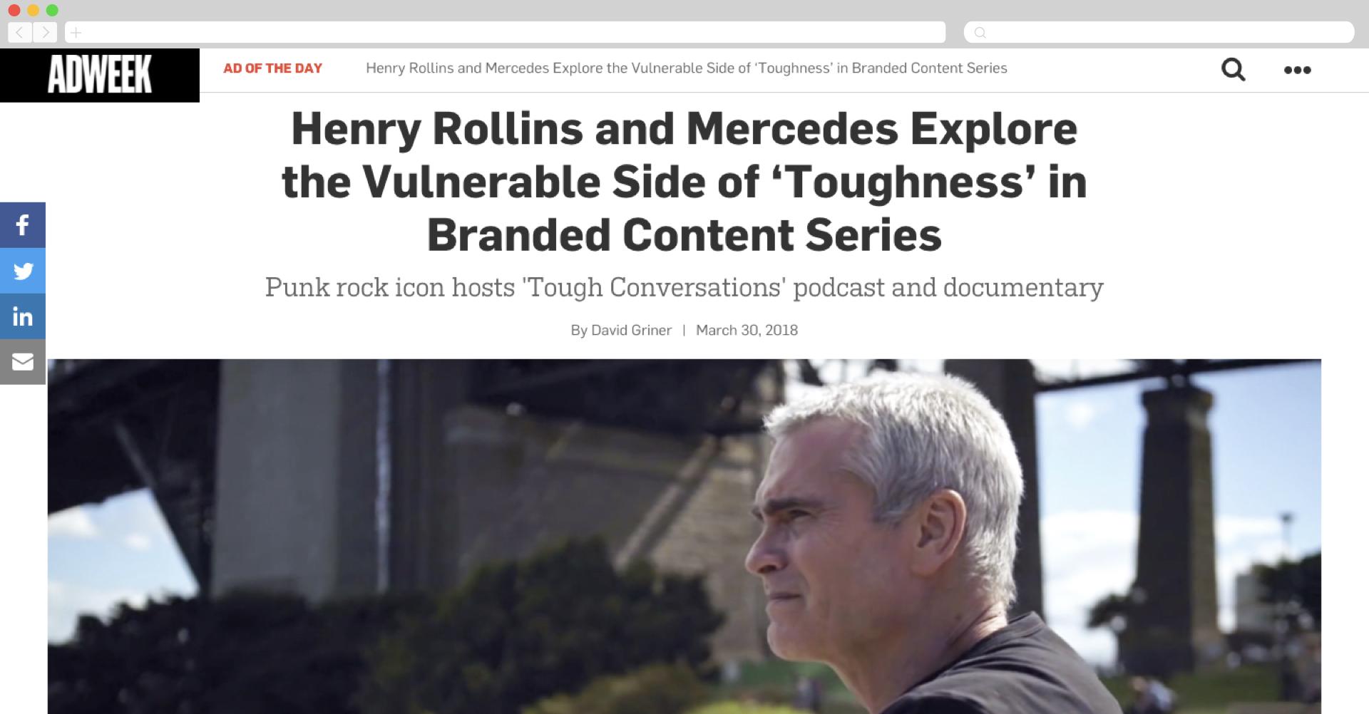 Henry Rollins for Mercedes