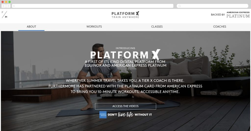 American Express and Equinox present PlatformX