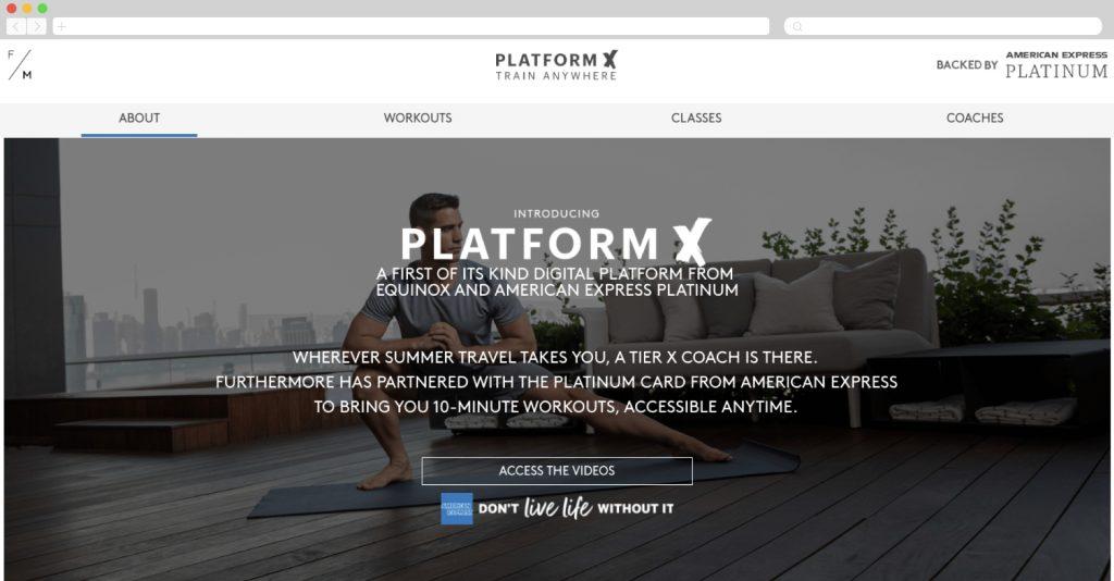 American Express and Equinox present PlatformX