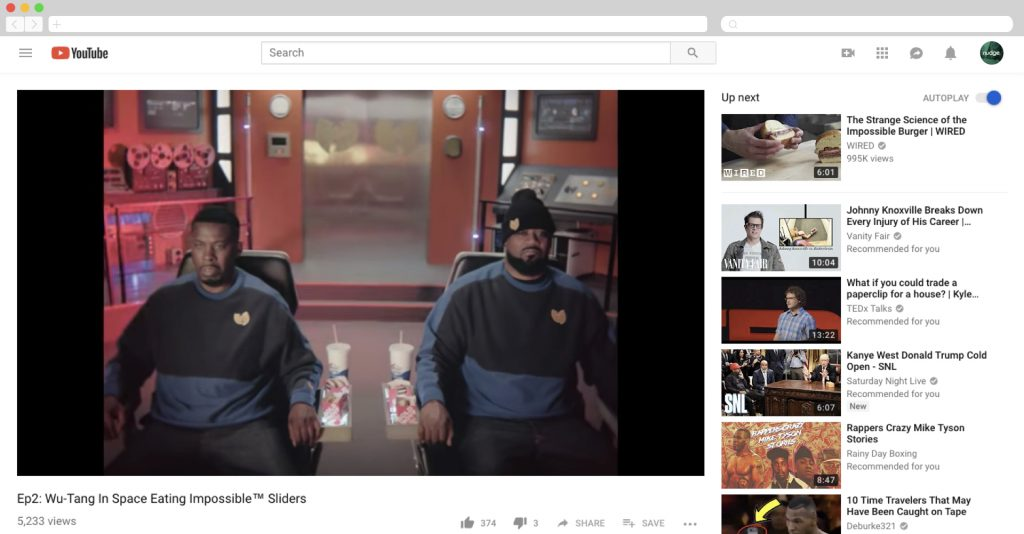 Wu-Tang in space eating impossible burgers