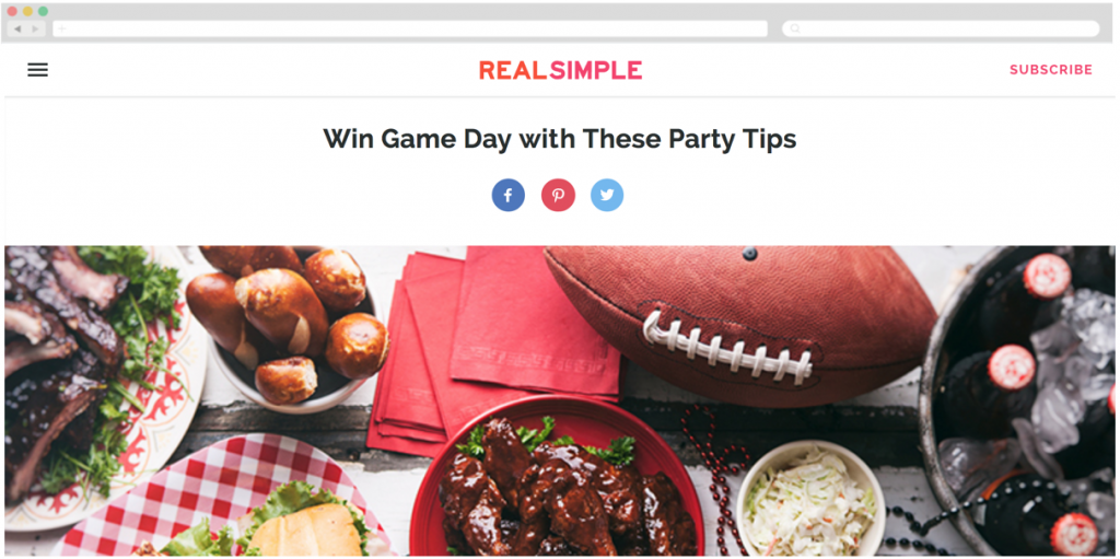Super Bowl Campaign by Hormel Foods + Real Simple