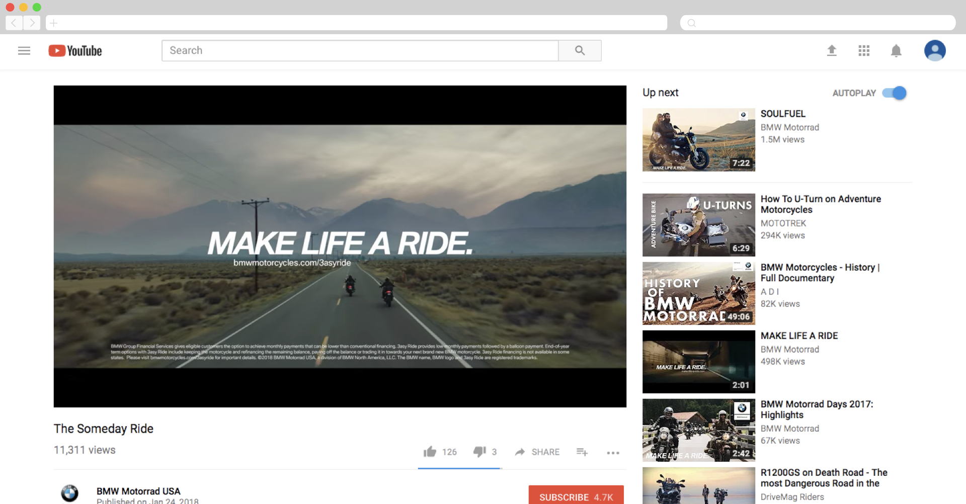 BMW's Short Film Featuring Their Motorcycle