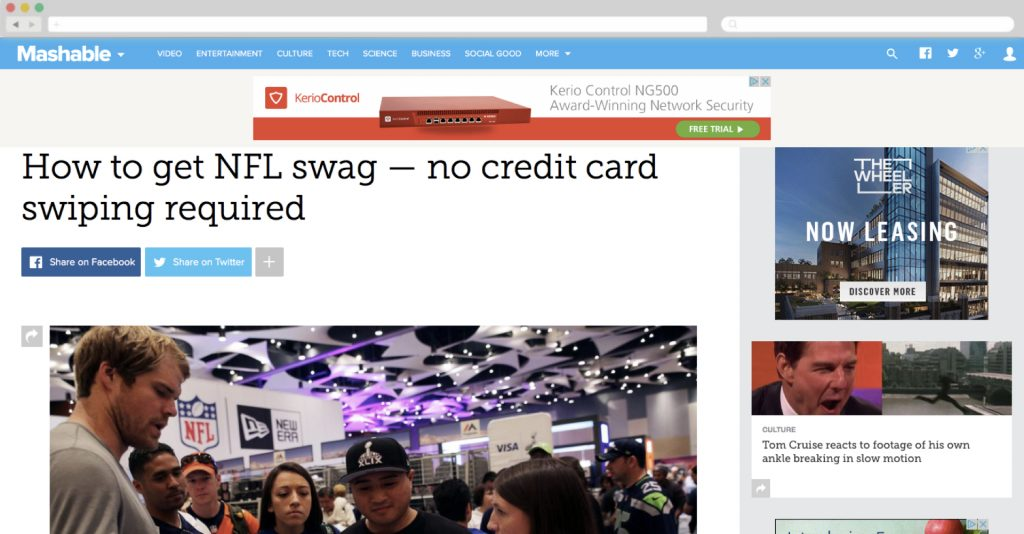 Visa + Mashable, Super Bowl Campaign