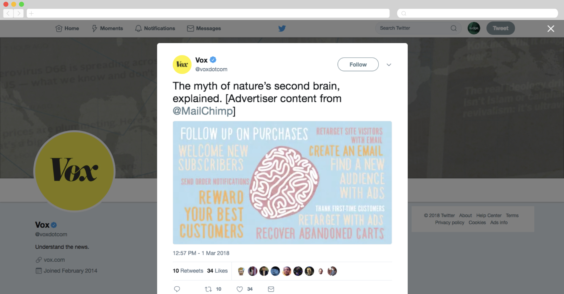 Mailchimp branded content via Vox explainer video