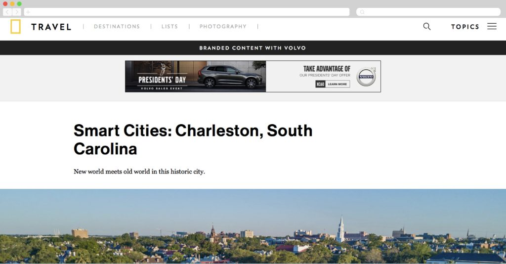 Volvo's Smart Cities - Charleston