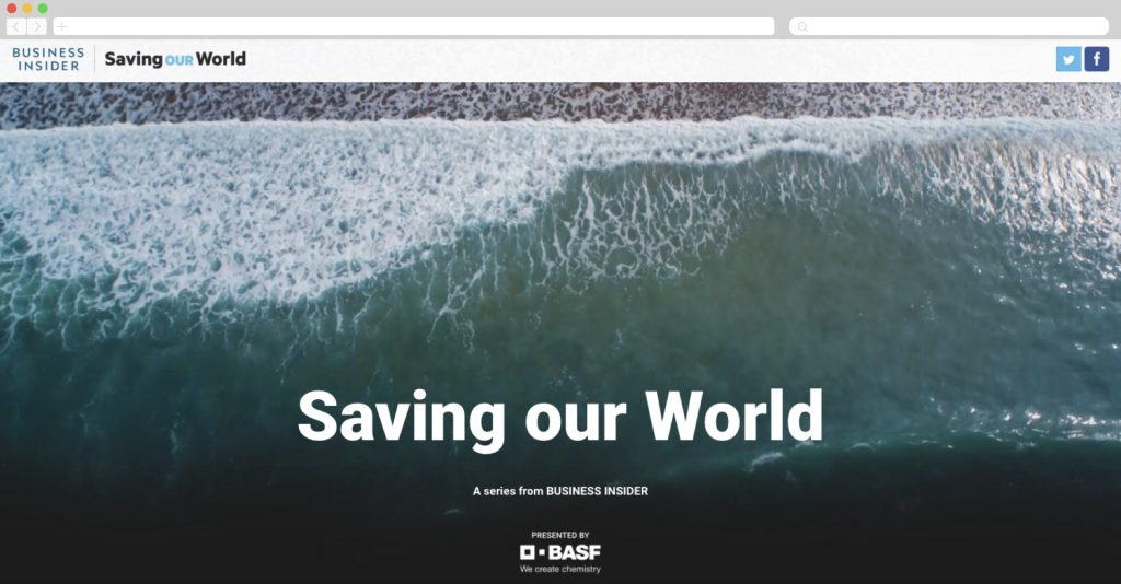Business Insider + BASF: Saving our World