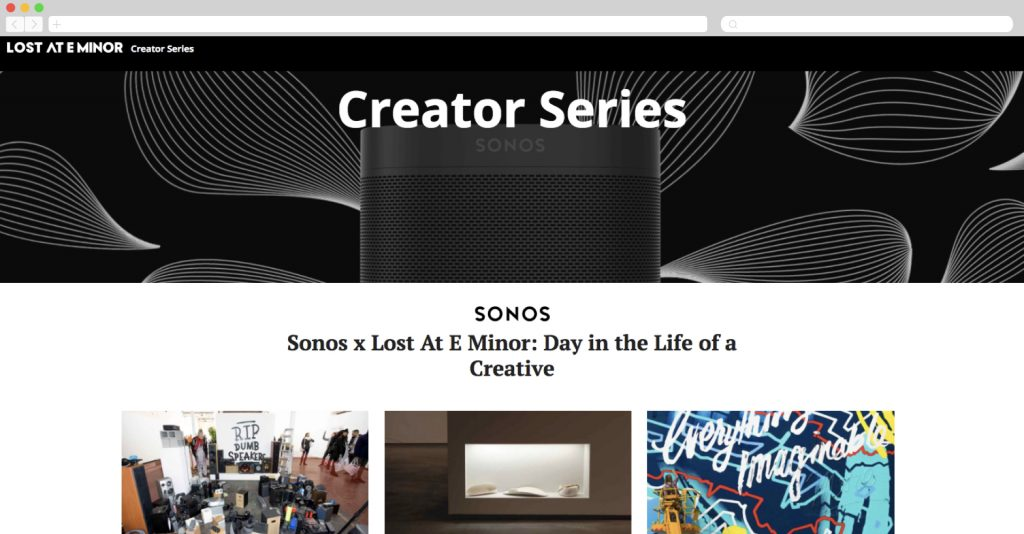 Sonos at Lost in E Minor