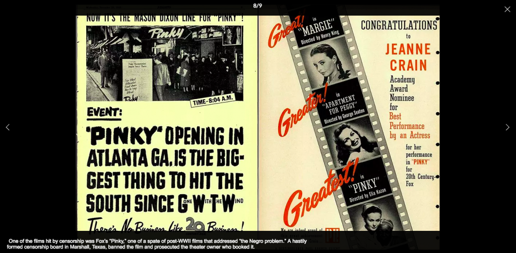 """From the Variety Archives: Fox's """"Pinky"""" was one of the films hit by censorship of the time"""