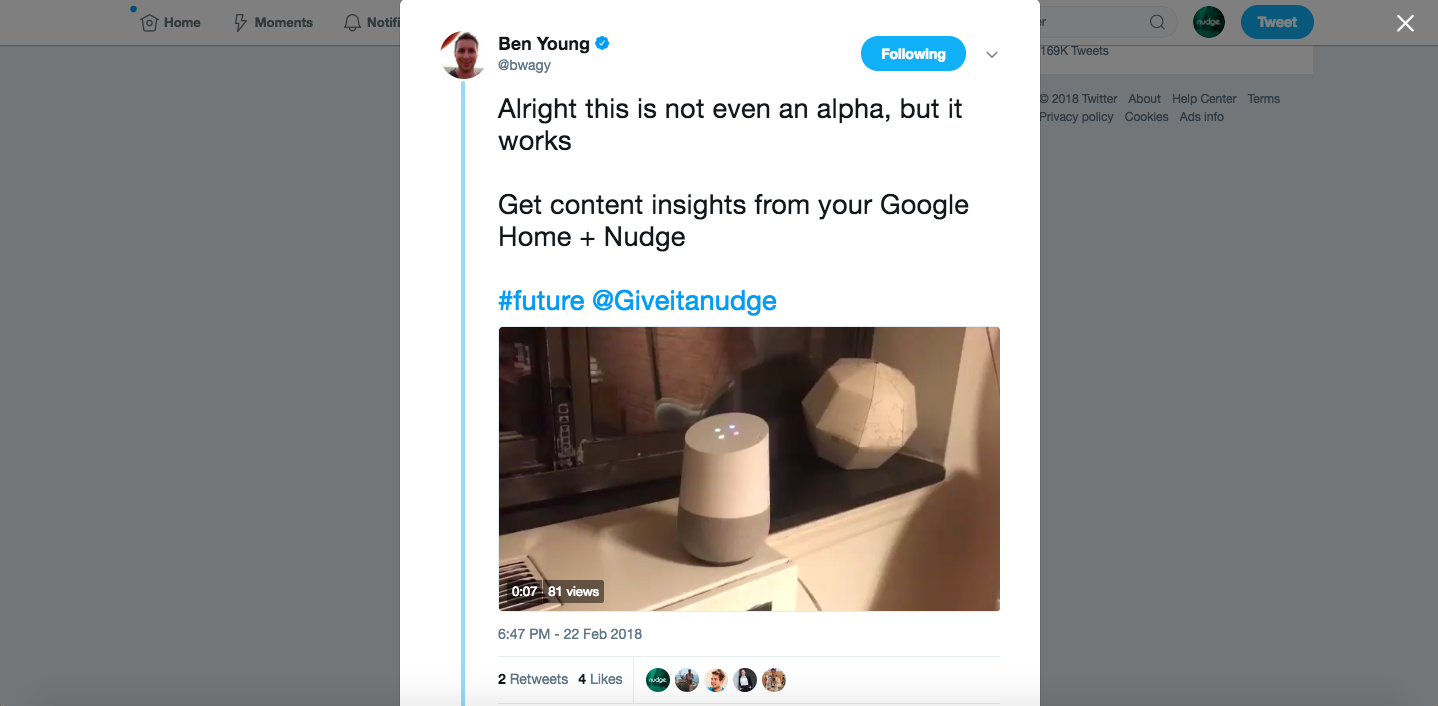 Get content insights from your Google Home + Nudge