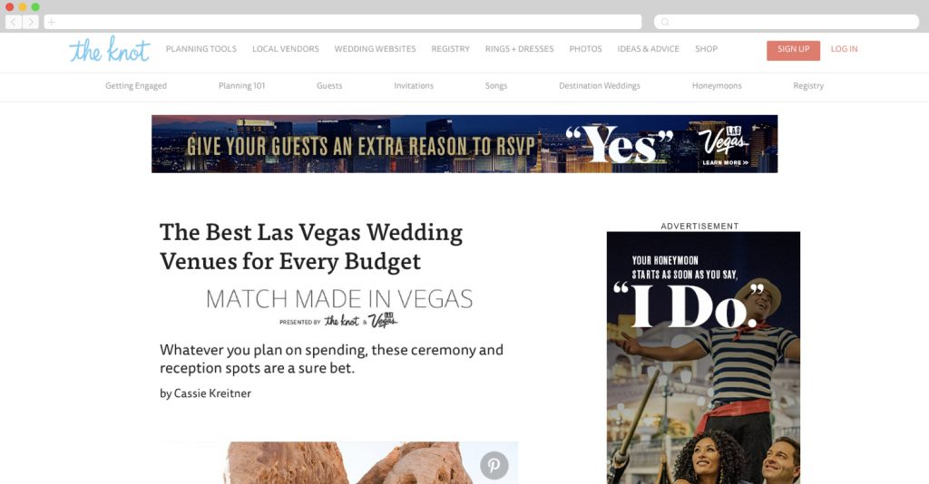 Valentines Day ad by Las Vegas Convention + The Knot