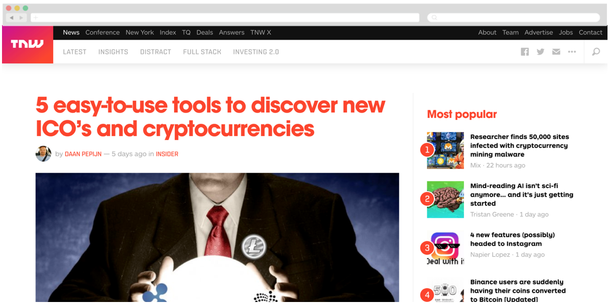 Exmo + The Next Web: 5 easy-to-use tools to discover new ICO's and cryptocurrencies