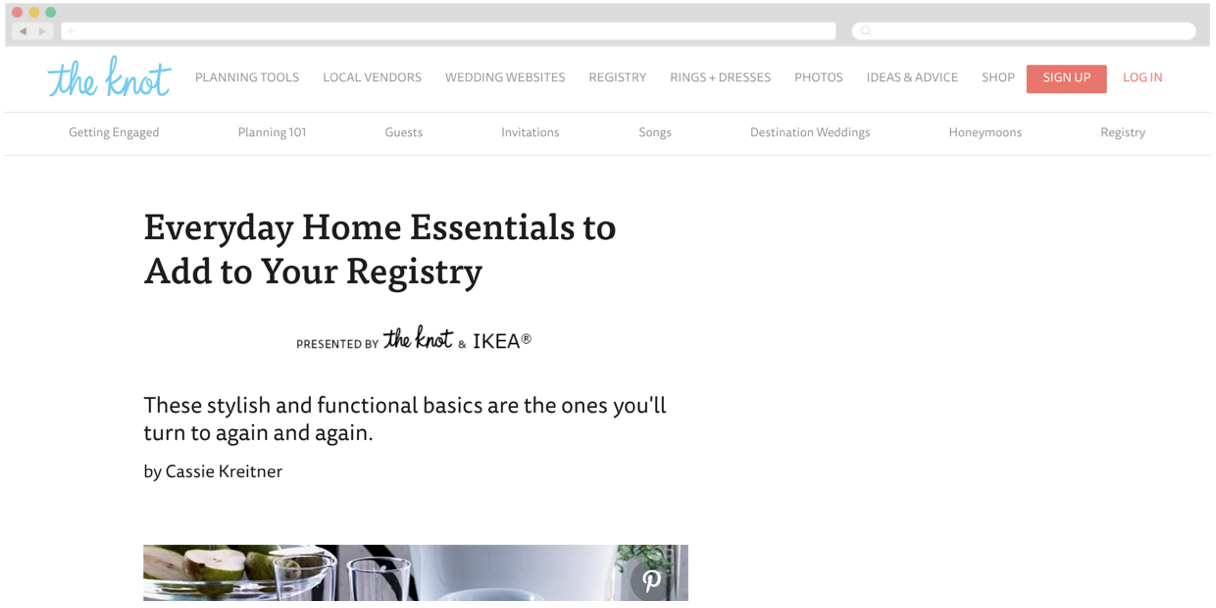 IKEA + The Knot: Everyday Home Essentials to Add to Your Registry