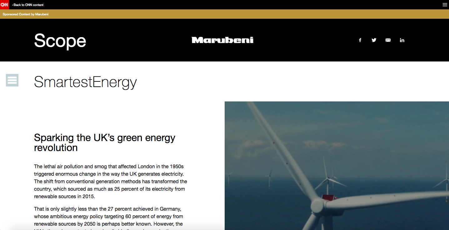 Marubeni + CNN, Sparking the UK's green energy revolution