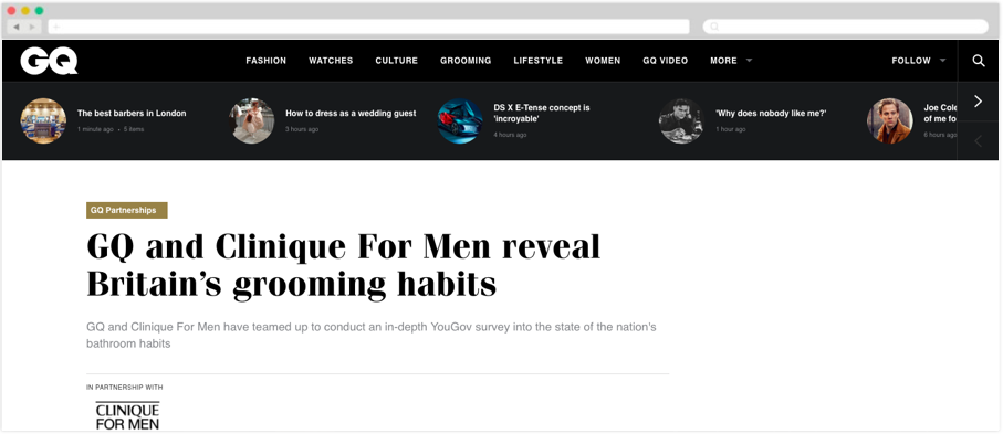 Clinique + GQ: GQ and Clinique For Men reveal Britain's grooming habits