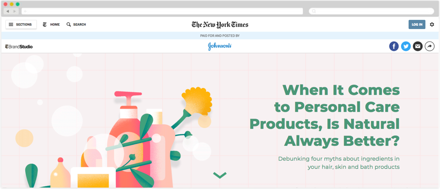 J&J + NYTimes: When It Comes to Personal Care Products, Is Natural Always Better?