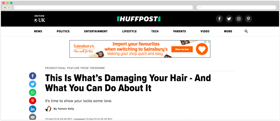 TRESemmé + HuffPo: This Is What's Damaging Your Hair - And What You Can Do About It