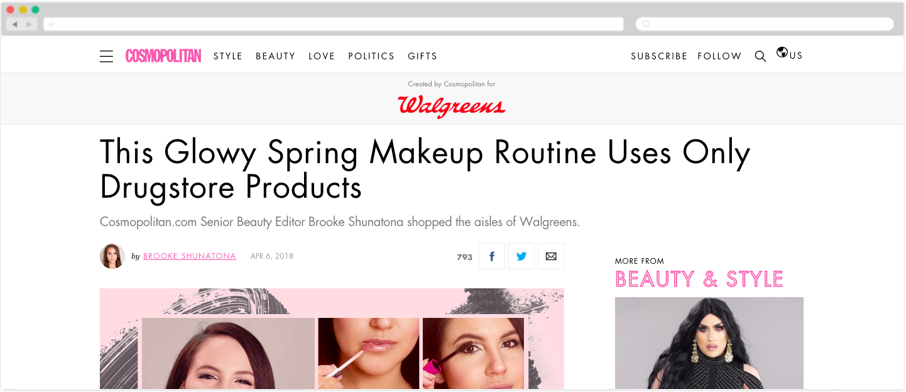Walgreens + Cosmopolitan: This Glowy Spring Makeup Routine Uses Only Drugstore Products