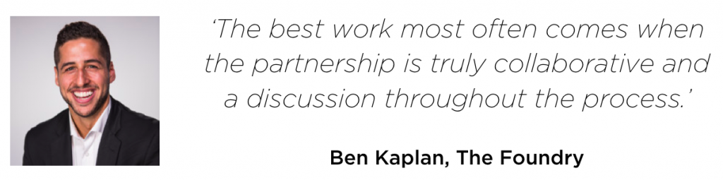 Quote by Ben Kaplan, The Foundry