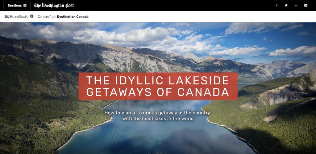 Destination Canada on Washington post idyllic lakesides