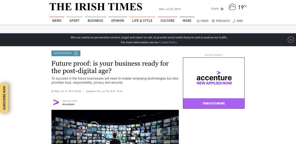 Accenture on The Irish Times future proof your business