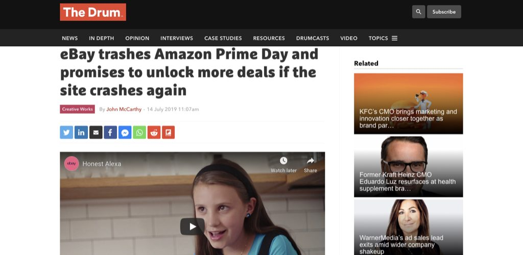 eBay trashes Amazon Prime Day