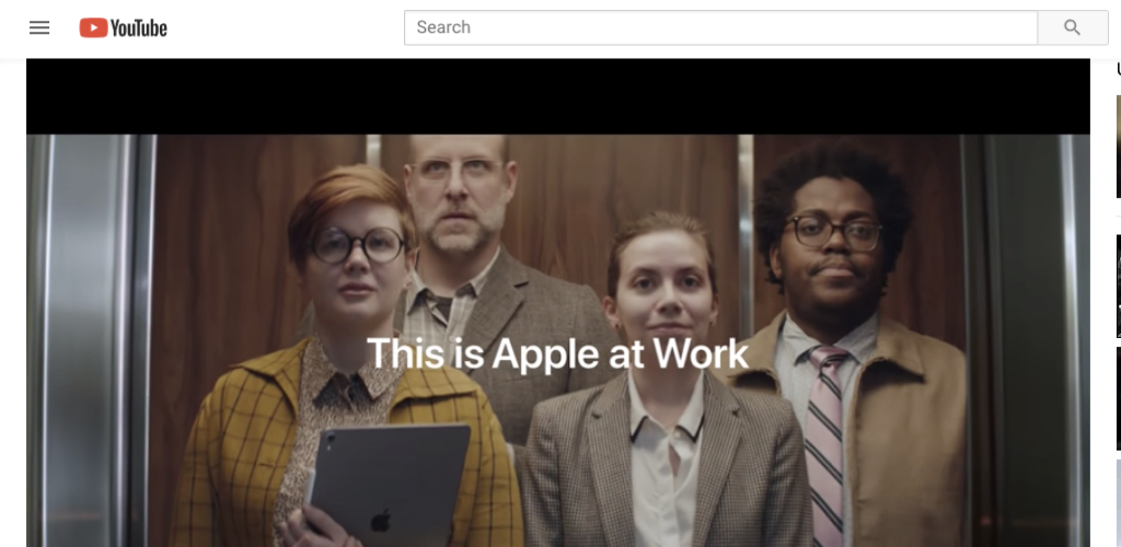 Apple's brilliant brand film about their products in the workplace