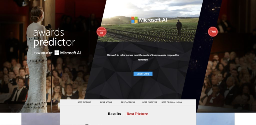 microsoft ai on hollywood reporter oscar predictions