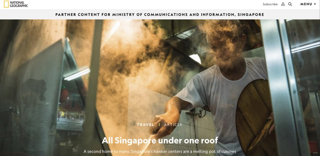 Singapore's Ministry of Communications and Information via Nat Geo