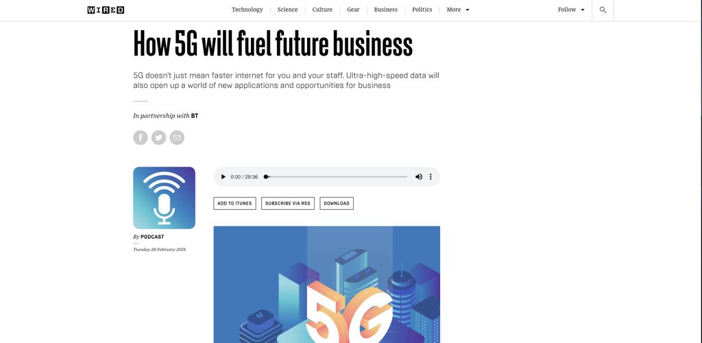 bt on how 5g will fuel future business