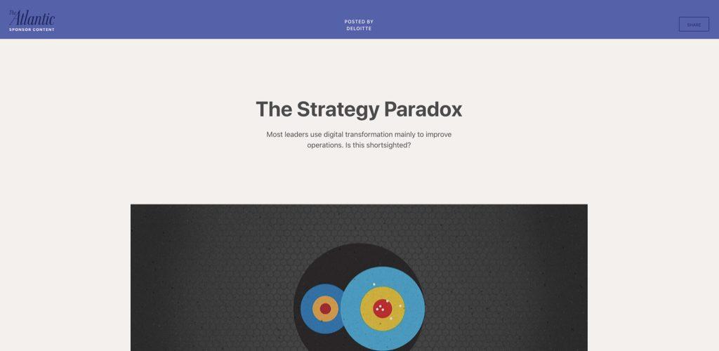 deloitte on the strategy pardox