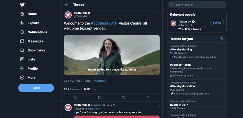 Visit Scottish Twitter