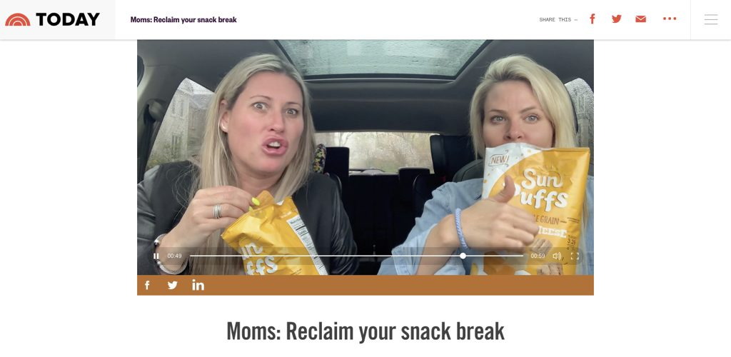 Sunchips on Today with #momtruth
