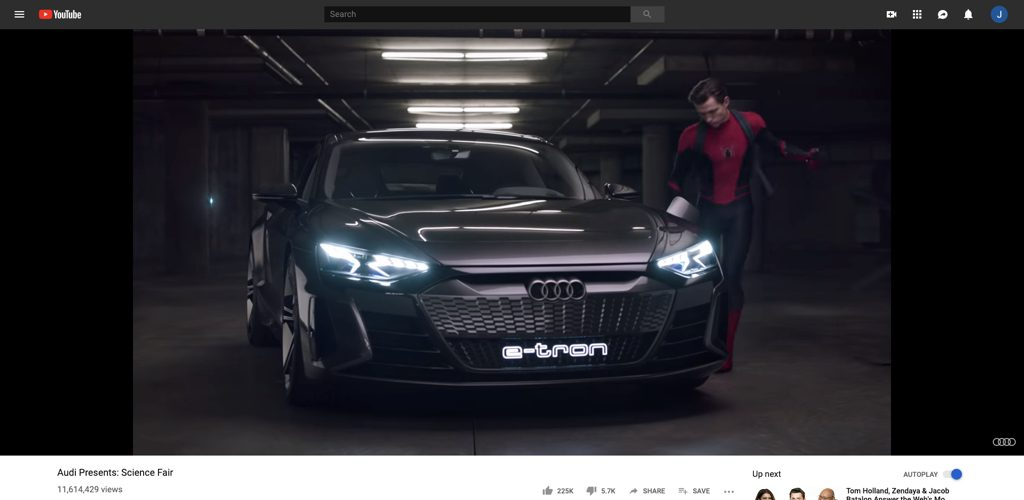 Audi + Spiderman with science fair