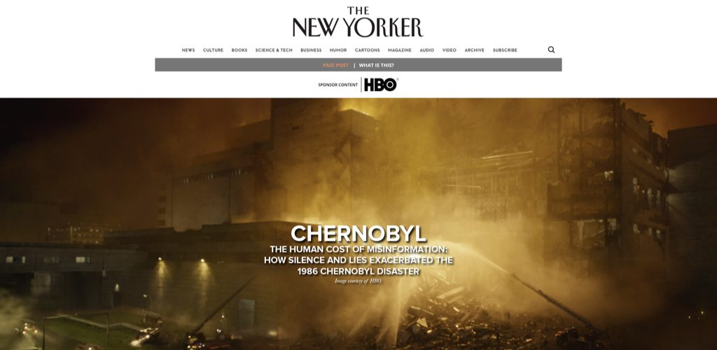 HBO on the New Yorker