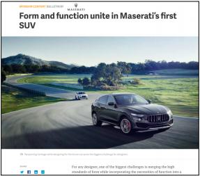Maserati on Quartz