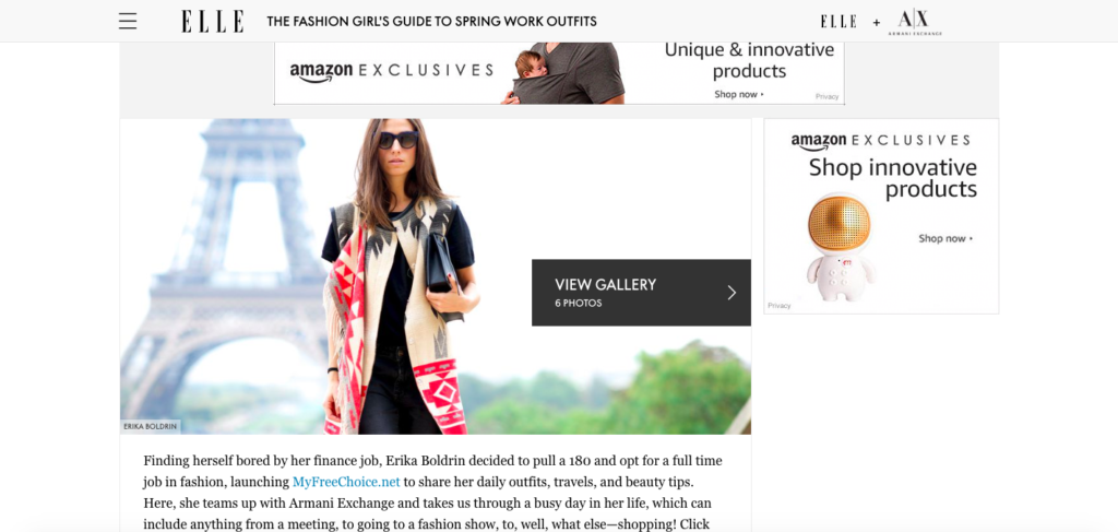 Elle + Armani Exchange, The Fashion Girl's Guide to Spring Work Outfits
