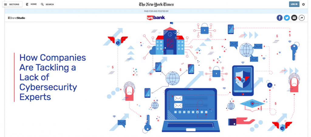Branded Content by US Bank on The New York Times