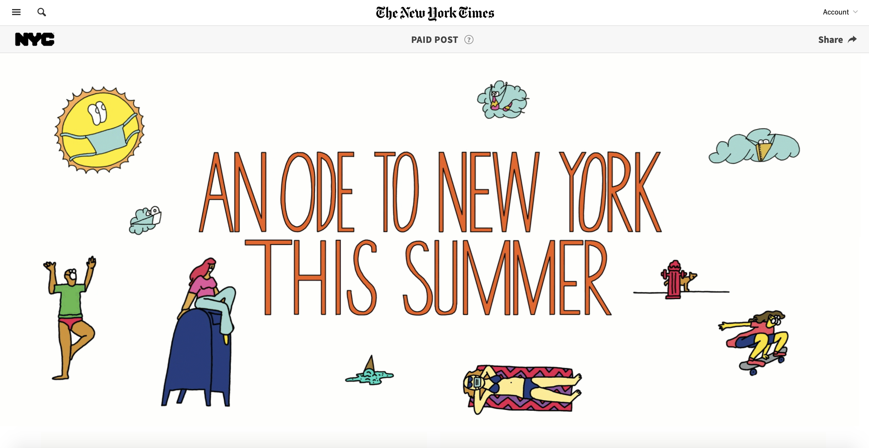Branded content by City of New York on The New York Times